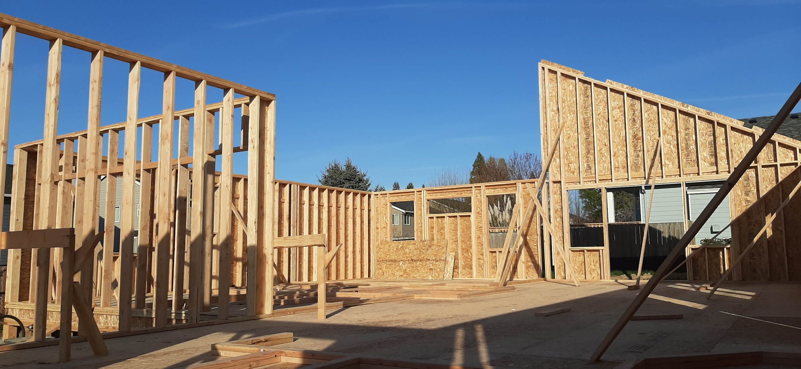 One of Quality Calvary's spec homes in the initial stages of construction