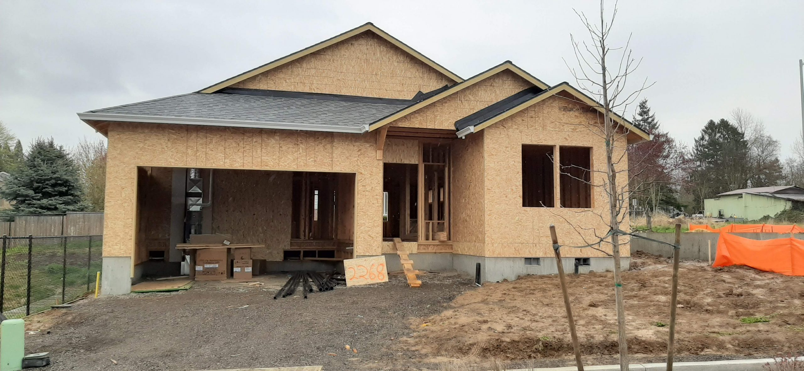 One of our spec houses under construction